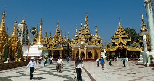 Pilgrims at Shwedagon Festival in Yangon