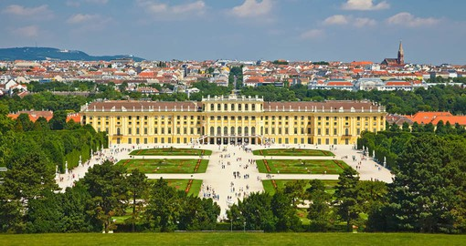The Rococo style Schönbrunn Palace is one of the most important architectural, cultural, and historic monuments in Austria