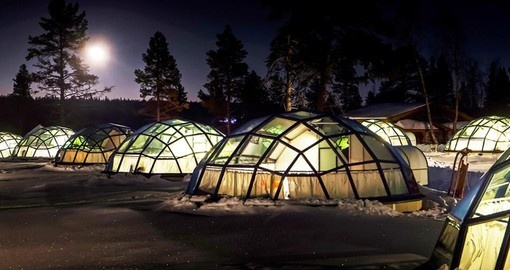 Stay in Glass Igloos during your Finland vacation.
