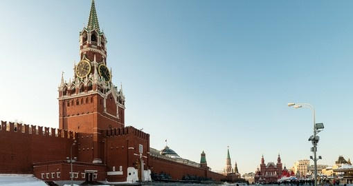 The Spasskaya Tower of Moscow Kremlin