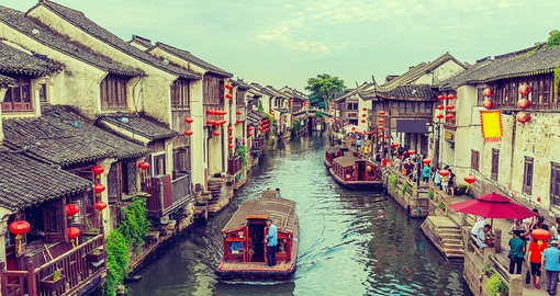 Float down a canal on your China tour