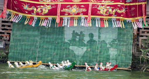 Visit the Hanoi Water Puppet Show as part of your Vietnam Vacation