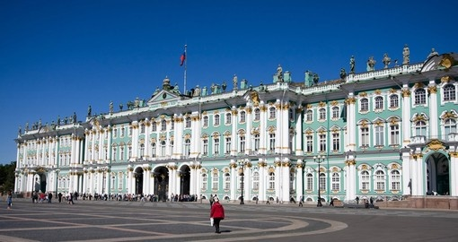 Visit the Hermitage in St. Petersburg during your Russia trip.