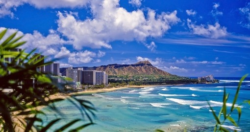 Waikiki Beach and Diamond Head, Honolulu