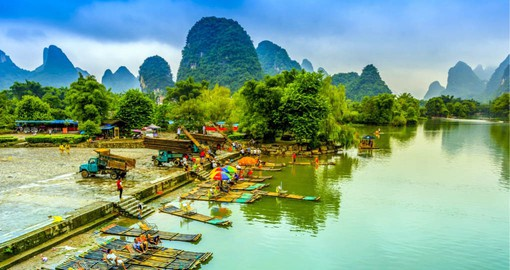 The surreal and other-worldly landscape of Yangshuo