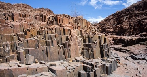 See the Organ Pipes during Namibia vacation.