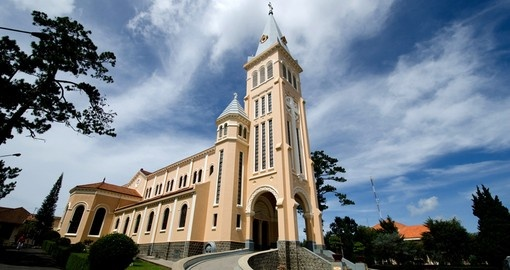 Dalat Cathedral is a popular inclusion on a Vietnam vacation.