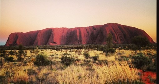 Beautiful Ayers Rock - one of the most included sites on all Australian tours.
