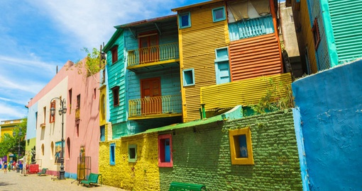 Caminito, one of the colourful main streets of La Boca
