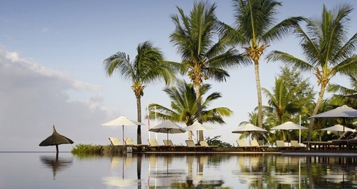Beautiful tropical morning in Mauritius