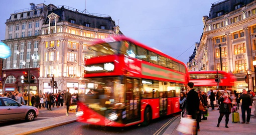 Enjoy world class shopping on your trip to London