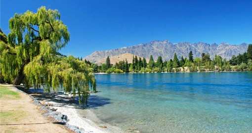 New Zealand's playground; Queenstown. on the shores of Lake Wakatipu