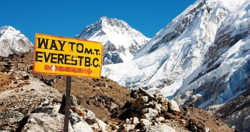 This way to Mount Everest base camp