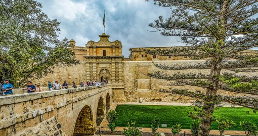 "Mdina was know in medieval times as ""Citta Notabile"", the noble city"