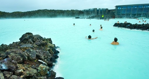 Take a relaxing bath in the Blue Lagoon during your next Iceland vacations.