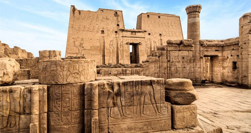 Temple of Horus at Edfu is considered to be one of the most beautiful and preserved Temples in Egypt