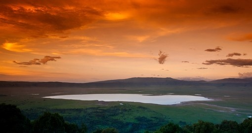 Experience Ngorongoro Crater at Sunset during your next Tanzania vacations.