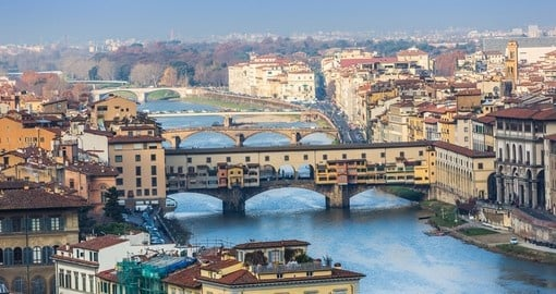 Arno River and the bridges of Florence
