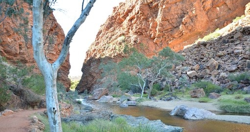 View of Simpsons Gap at sunset - Alice Springs