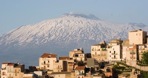 Etna Volcano and Centuripe City, Sicily