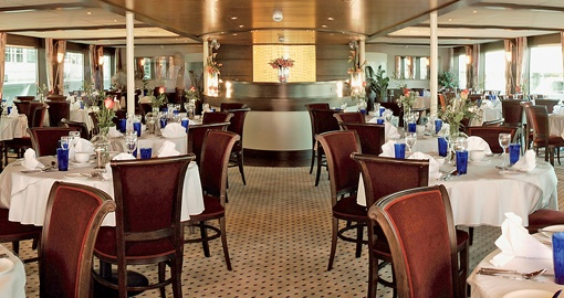 The Restaurant on the MS Amadeus Princess.