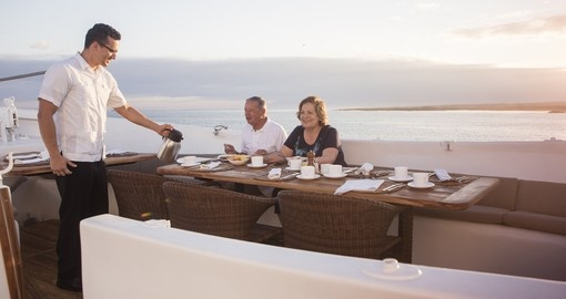 Enjoy unique dining experiences on your next Galapagos tours.