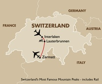 Switzerland's Most Famous Mountain Peaks - includes Rail