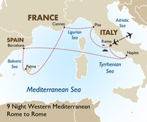 9 Night Western Mediterranean: Rome to Rome