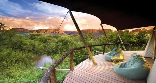 See spectacular views at the Marataba Safari Lodge during your South Africa vacation.
