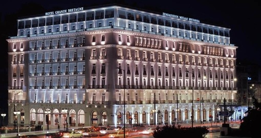 Stay at the iconic Hotel Grande Bretagne on your Greece Vacation