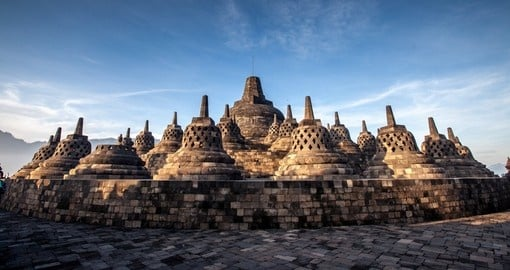 Yogyakarta's Borobudur Temple is included on many Indonesia vacations.