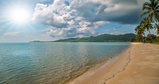 Relax on the tropical beach in Koh Yao Yai in Thailand