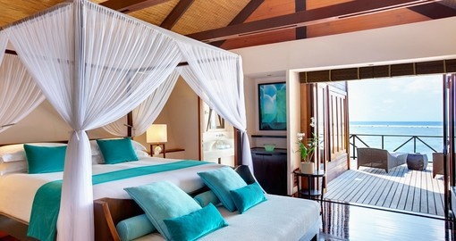 Wake up every morning in your ocean side villa that you can choose to have on your Maldives Vacation Packages