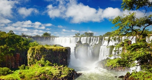 Breathtaking view of Iguassu Falls