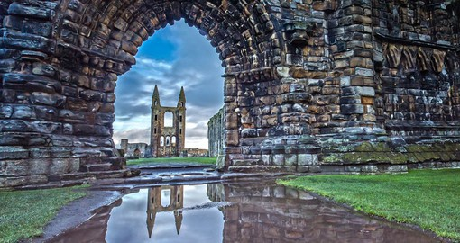 The Cathedral of St Andrew, built in 1158, became the centre of the Medieval Catholic Church in Scotland