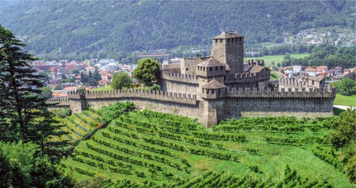 Bellinzona is the southernmost capital of Switzerland and is home to three of the best-preserved medieval castles in Switzerland