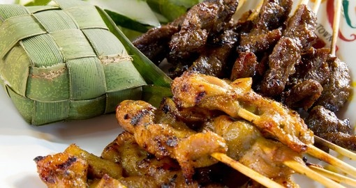 Chicken and Lamb Satay - dining experiences are first class