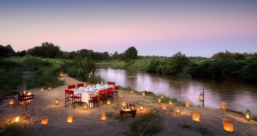 Dinner down by the river