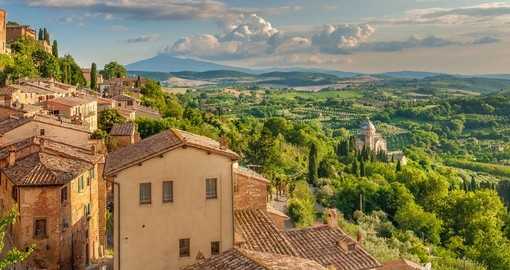 Explore the landscape of Tuscany from the walls of Montepulciano