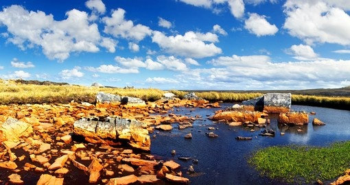 Rocky Falkland Islands landscape