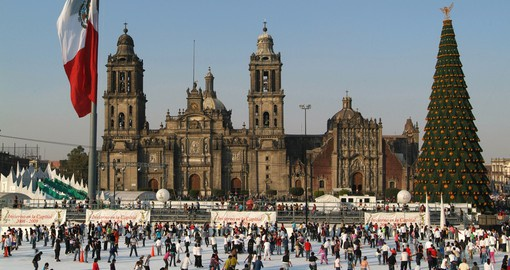 Cathedral Metropolitana on the Zocalo is one of Mexico City's most iconic structures
