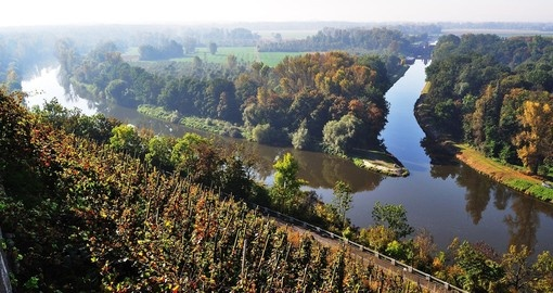 Confluence of the Vitava and Elbe rivers