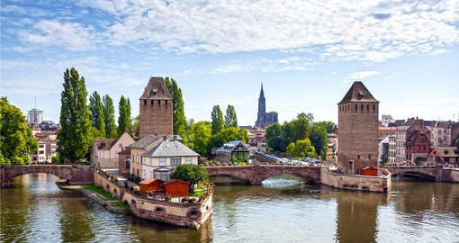 Situated on the banks of the Rhine, Strasbourg is is the official seat of the European Parliament