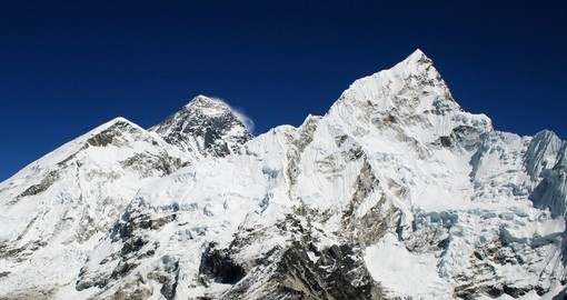 The worlds highest mountain, Mt Everest (8850m) is a great photo opportunity on all Nepal tours.