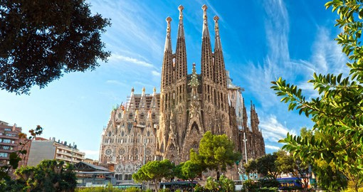 Be inspired by La Sagrada Familia,  the impressive Gothic Cathedral designed by Gaudi on your Spain Holiday