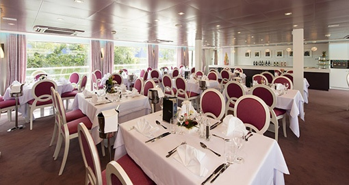 Restaurant on the MS Douce France