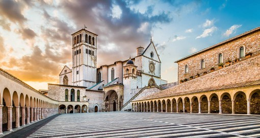 The Basilica in the medieval town of Assisi is the centre of the Franciscan Order