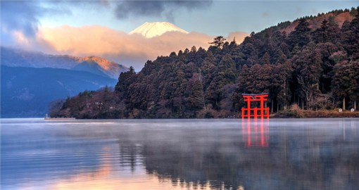 Hakone is famous for hot springs, natural beauty and the view across Lake Ashinoko