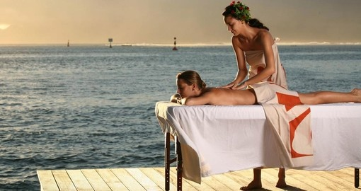 Have a very relaxing outdoor spa at Manava Suite Resort during your next Tahiti tours.