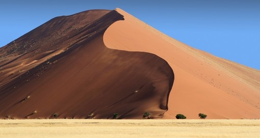 Discover salt and clay pan place known as Sossusvlei during your next Namibia vacations.